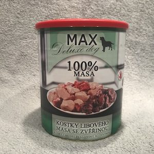 konzerva pre psa max